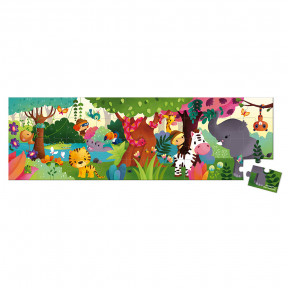 Valisette puzzle panoramique Jungle 36 pcs