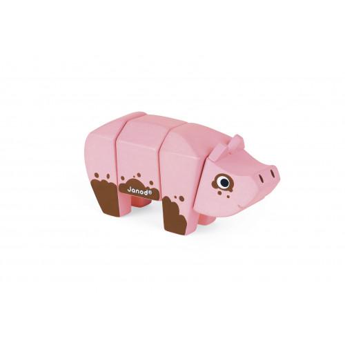 Animal Kit - Cochon (bois)