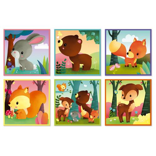 Kubkid - animaux de la forêt - 9 cubes