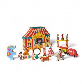 Story-Box Zirkus Im Formkarton (Holz)