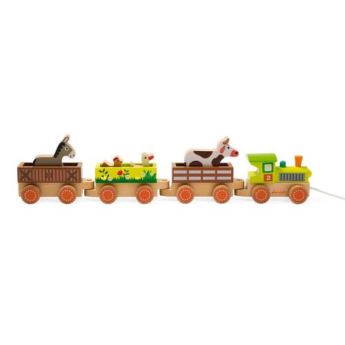Story - Baby Train Ferme (bois)