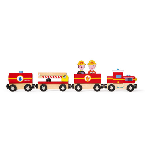 Story - Train Pompiers (bois)