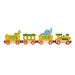 Story Safari-Zug Groß Mit Figuren (Holz)