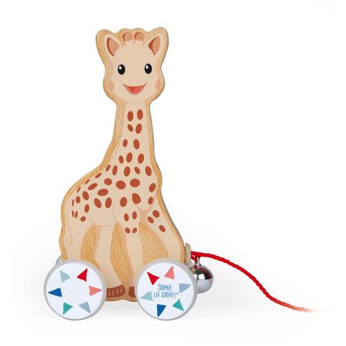 Jouet à Promener Sophie la girafe (bois)