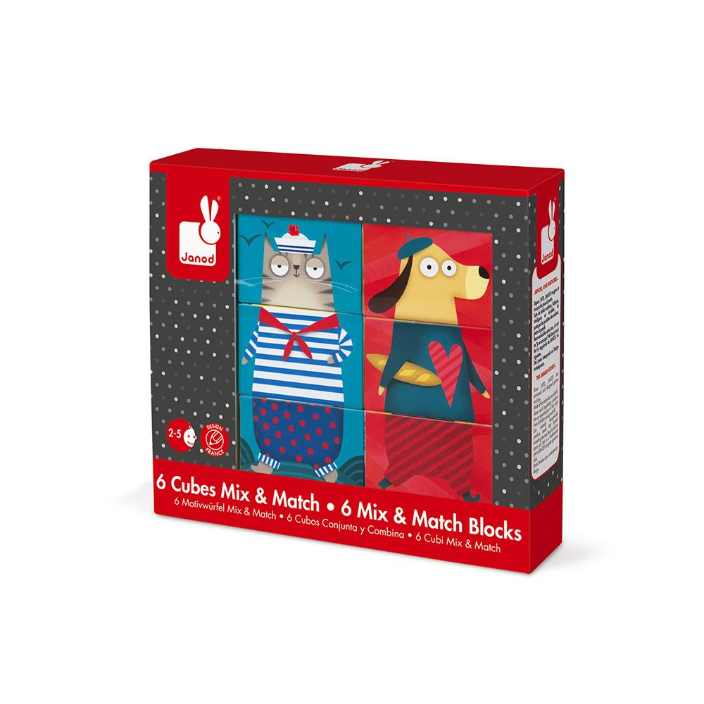 Kubkid - Mix & Match chiens et chats - 6 cubes