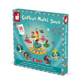Coffret multi jeux carrousel (bois et carton)