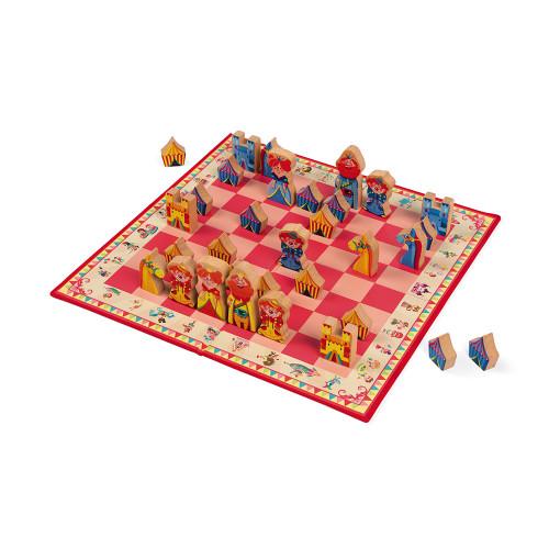 Jeu d'échecs carrousel (bois et carton)