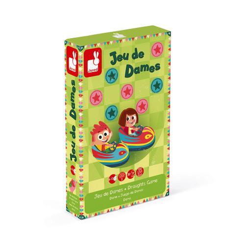 Jeu de dames carrousel (bois et carton)