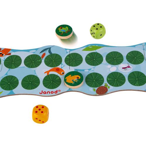 Jeu de Parcours - Fast & Frog (bois et carton)