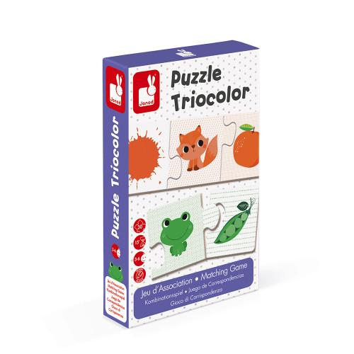 Jeu d'association - puzzle Triocolor 30 pièces
