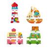 Cofanetto 4 Puzzle 3D Vacanze (legno)