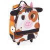 Bolsa Escolar con Ruedas Diseño Vaca