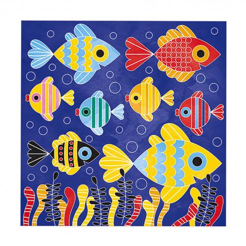Cartes Aquarelle - Monde Sous-Marin