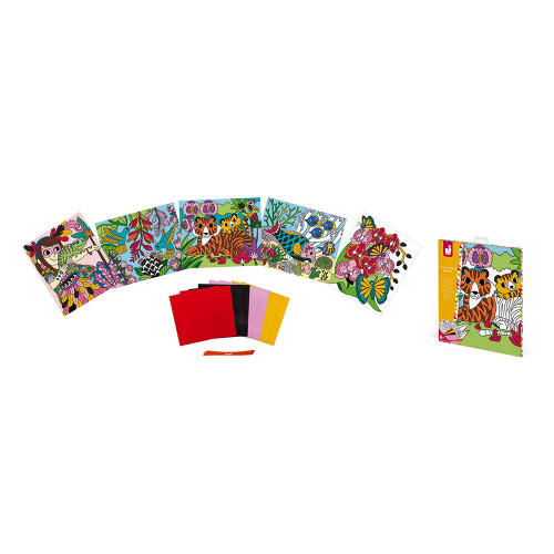 Cartes Velours à Colorier