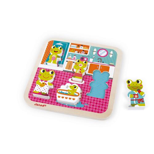 Chunky Puzzle Salle de Bain 5 pcs (bois)