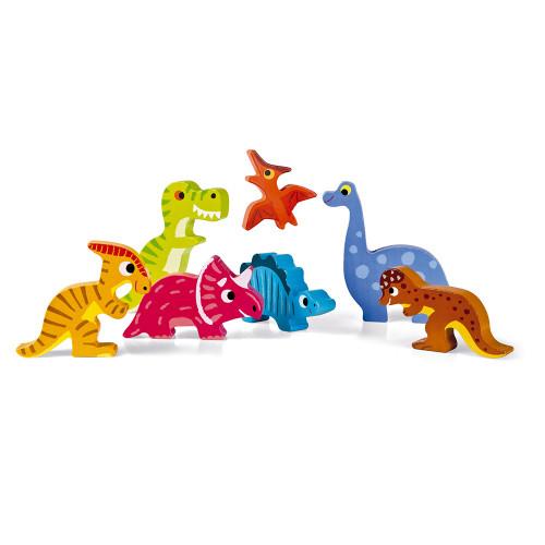 Chunky Puzzle Dinosaures 7 pcs (bois)