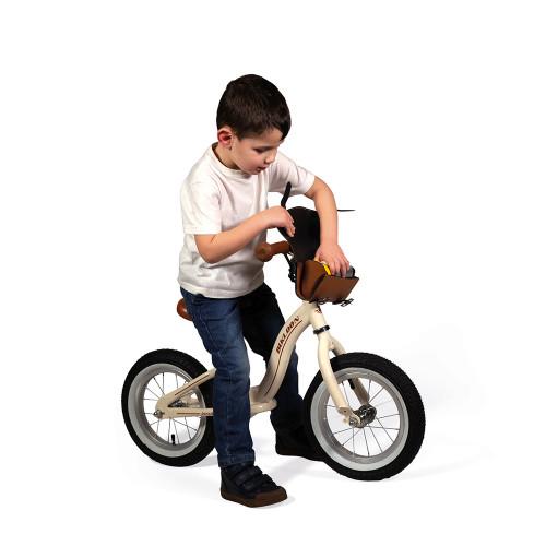 Draisienne Bikloon Métal Vintage Beige, équilibre motricité, plein air extérieur, pour enfant dès 3 ans JANOD
