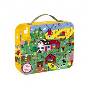 """Puzzle""""Bauernhof"""" mit Suchspiel im Koffer"""