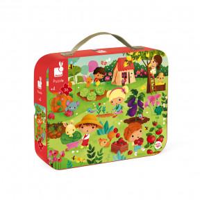 """Puzzle """"Garten"""" im Koffer"""