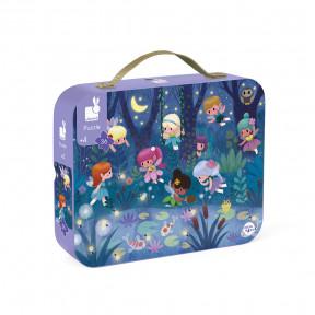 """Puzzle """"Feen & Wasserlilien"""" im Koffer"""