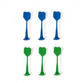 Jeu de 6 fléchettes magnétiques (vert et bleu)
