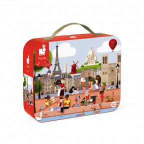 """Puzzle """"Paris"""" im Koffer"""