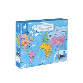 Puzzle éducatif géant Curiosités du Monde 350 pcs