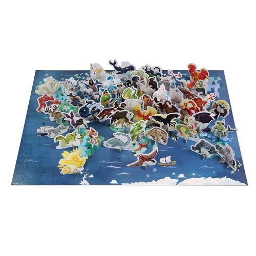 Puzzle éducatif géant Mythes et Légendes 350 pièces, carton, figurines, pour enfant à partir de 7 ans JANOD