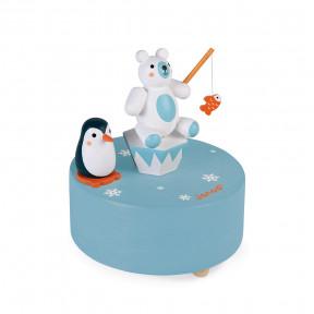 Spieldose Eisbär mit Pinguin