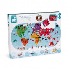 Mappa Del Mondo da Bagno