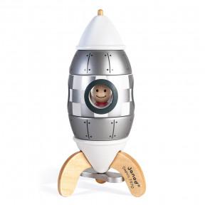 Kit magnético de cohete plateado
