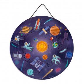 Carte magnétique du système solaire (bois)