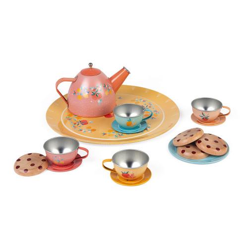 Dinette métal, imitation, service à thé, ustensiles cuisine, cookies, pour enfant à partir de 3 ans JANOD