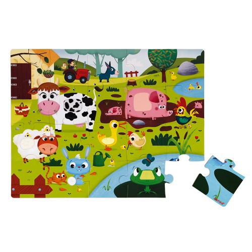 Puzzle Tactile de la Ferme 20 pcs