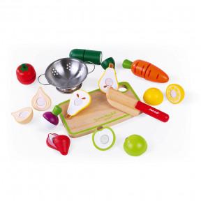 Maxi Set - Fruits et légumes à découper Green Market (bois)