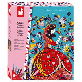 Kit Créatif - Paillettes Princesses de Contes