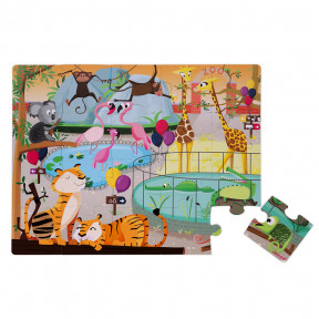 Puzzle Tactile 'Journée Zoo' 20 pcs