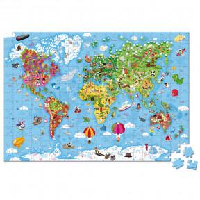 Valise Puzzle Géant Monde 300 pcs