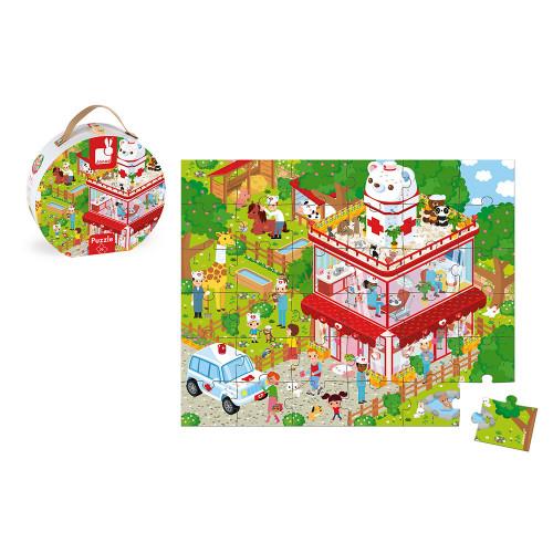 Valise Puzzle Clin. Animaux 36 pcs