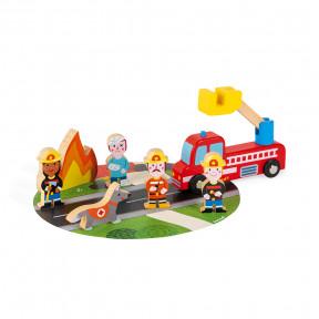 Set Pompiers Story (bois)
