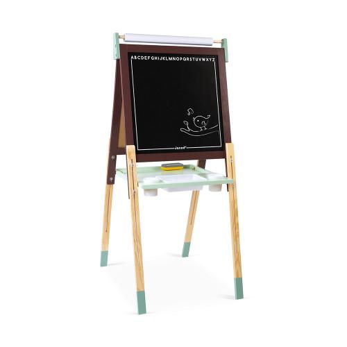 Tableau Réglable taupe et vert en bois 13 accessoires enfant à partir de 3 ans