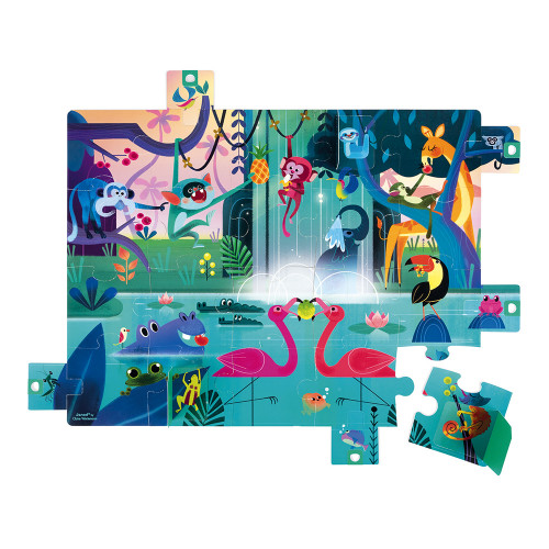 Puzzle Surprise Festin dans la Jungle 20 pcs