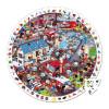 Puzzlekoffer Rundpuzzle Feuerwehr Mit Suchspiel 208 Teile
