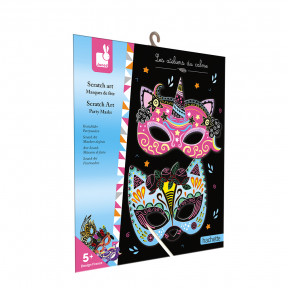 Kit Créatif - Scratch Art Masques De Fête