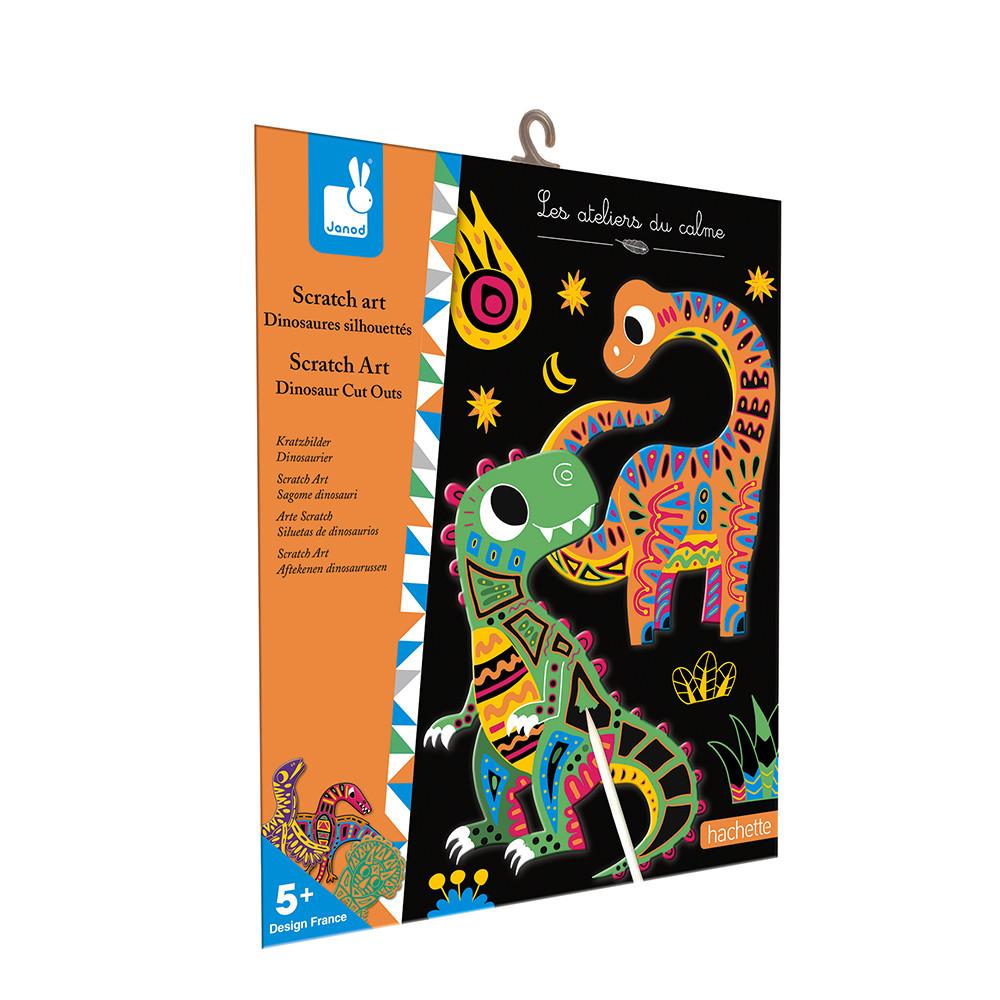 Dinosaure Scratch Art aimants enfants Craft Sac Fête Remplisseur Anniversaire