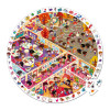 Round Observation Puzzle School 208 pieces