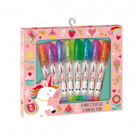 8 Mini Penne Gel Unicorno