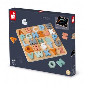 """Sweet Cocoon Holzpuzzle """"Alphabet"""" mit Kreidetafel"""