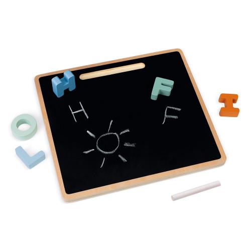Puzzle Alphabet Sweet Cocoon en bois, design, lettres, éducatif, motricité, ardoise pour enfant à partir de 2 ans JANOD