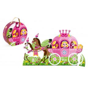 Valisette Puzzle Géant Princesse 39 pcs